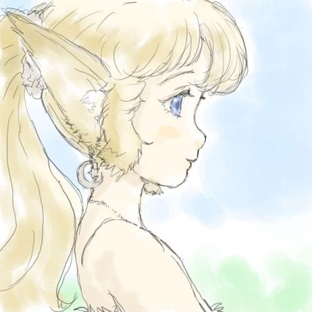 春のエルフっ娘