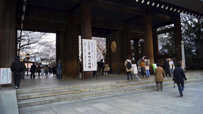 靖国神社&桜20140331-大門