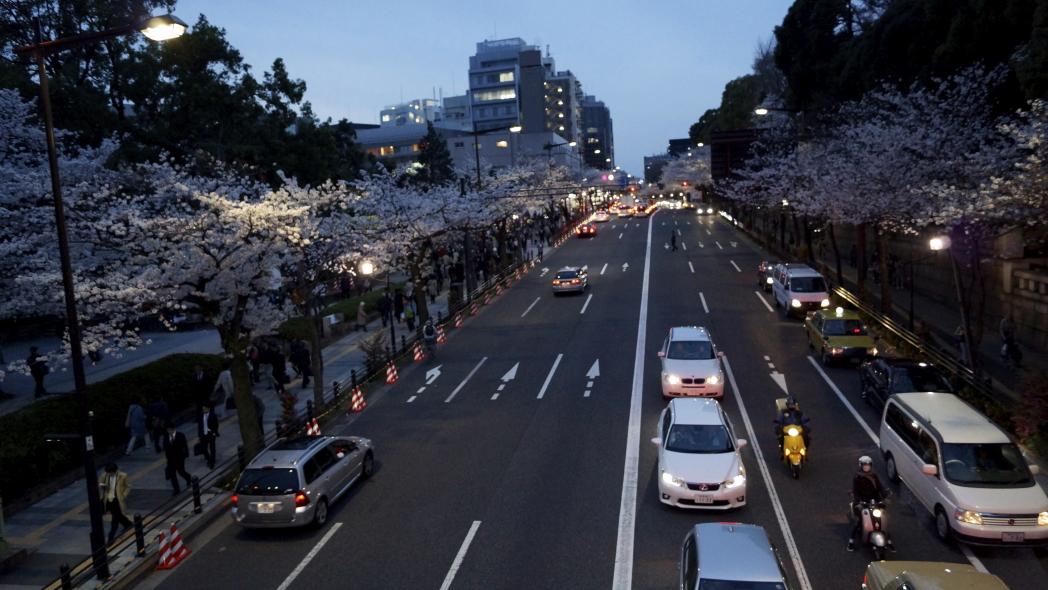 九段下桜夕景A20140331