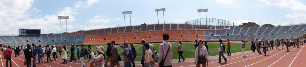 国立競技場パノラマ写真20140507-2