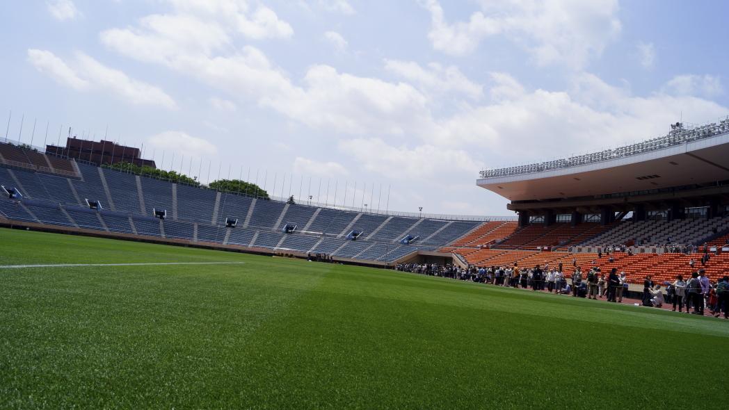 国立競技場 芝生