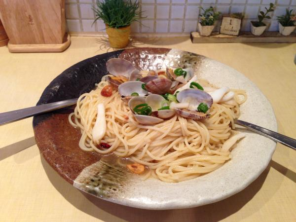 あさりとイカのスパゲティ6