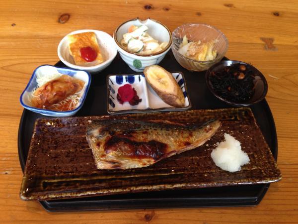 塩サバの網焼き定食5