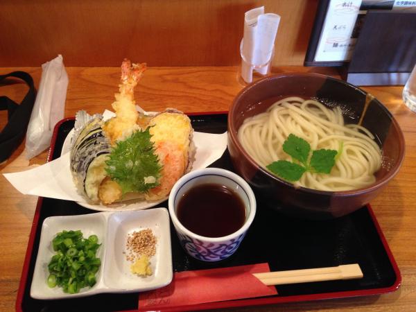 天ぷらと釜あげうどん5