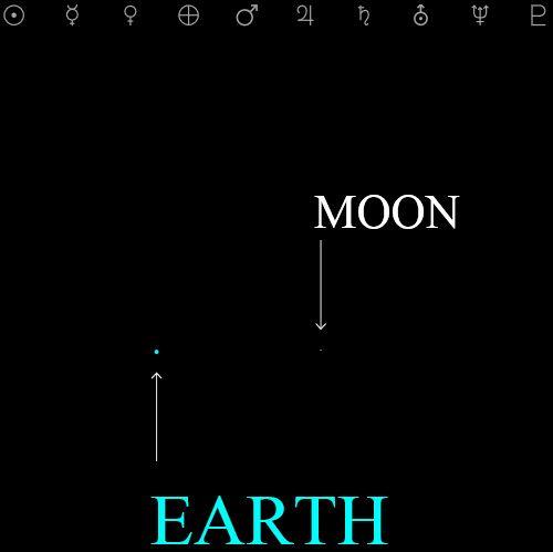 1 pixel moon