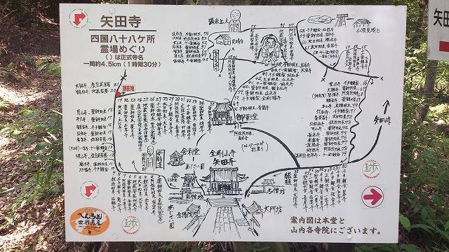 矢田寺 四国八十八ケ所霊場巡り地図