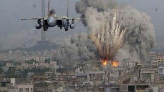 イスラエル軍機によるガザ爆撃