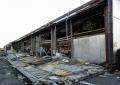 壊れたスーパーマーケットの側壁(太白区長町駅近く)