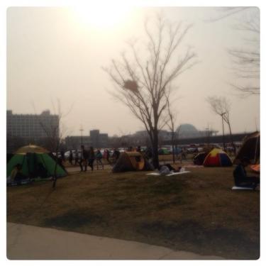 テント持参の韓国人も多く見られます(笑)みなさん思い思いの時間を楽しく過ごしていました^^