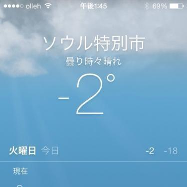 今日は6月17日。気温が一時、まさかのマイナス表示に…笑