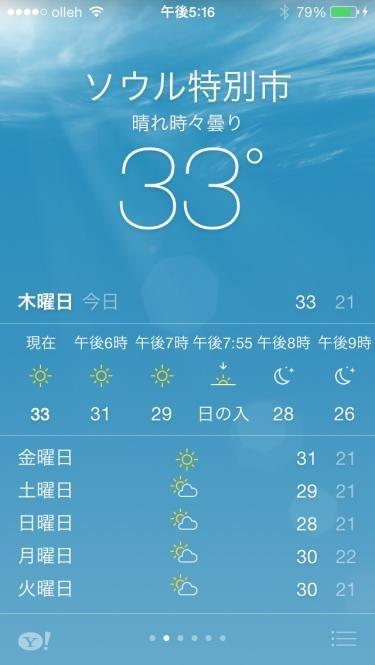 朝から暑〜い1日。
