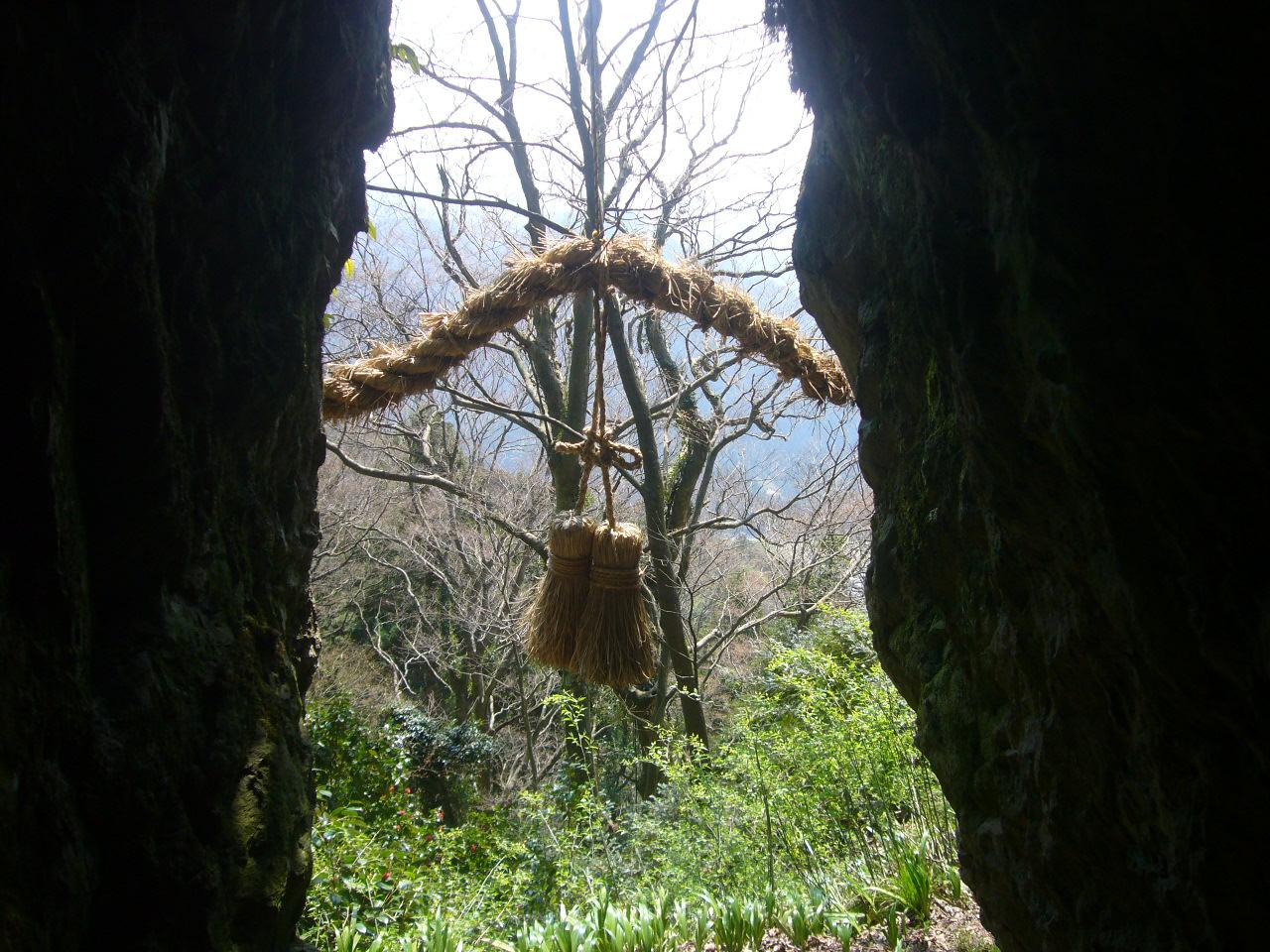 文殊山 胎内からの眺め H26.4.9