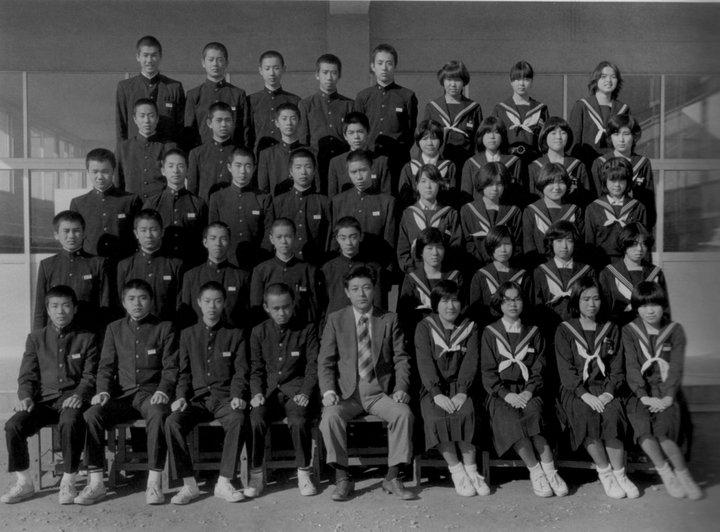 昭和51年卒阿久比中学校同窓会 卒業写真:A組