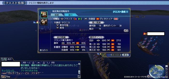 2014年4月20日大海戦結果