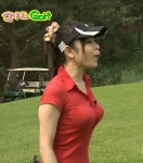 立花麻理 セクシー ゴルフウェア TVQ九州放送 女子アナウンサー 地上波キャプチャー 巨乳おっぱい ポニーテール 高画質エロかわいい画像7