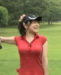 立花麻理 セクシー ゴルフウェア TVQ九州放送 女子アナウンサー 地上波キャプチャー 巨乳おっぱい 笑顔 ポニーテール 高画質エロかわいい画像8