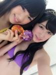 NMB48 渋谷凪咲 吉田朱里 セクシー ビキニ水着 自撮り 顔アップ カメラ目線 高画質エロかわいい画像14 顔射ぶっかけ用素材
