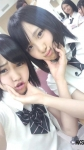 AKB48 川栄李奈と高橋朱里 セクシー 顔アップ カメラ目線 唇 高画質エロかわいい画像2