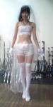 SKE48 大矢真那 セクシー ウエディングドレス風 衣装 チューブトップ ショートパンツ 腹筋 全身 太もも 高画質エロかわいい画像5