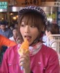 眞鍋かをり セクシー アイスクリーム舐め 口開け 舌 食事顔 地上波キャプチャー 擬似フェラ顔 高画質エロかわいい画像38