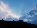晩方の青空