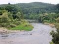 北堰から見る青葉山