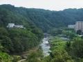 国道から見る青葉山