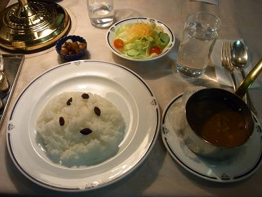 食堂車夕食カレー