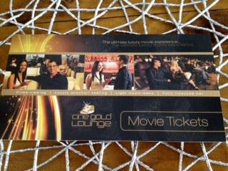 ゴールド映画のチケット