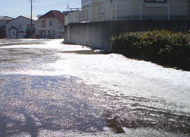 雪と日差し
