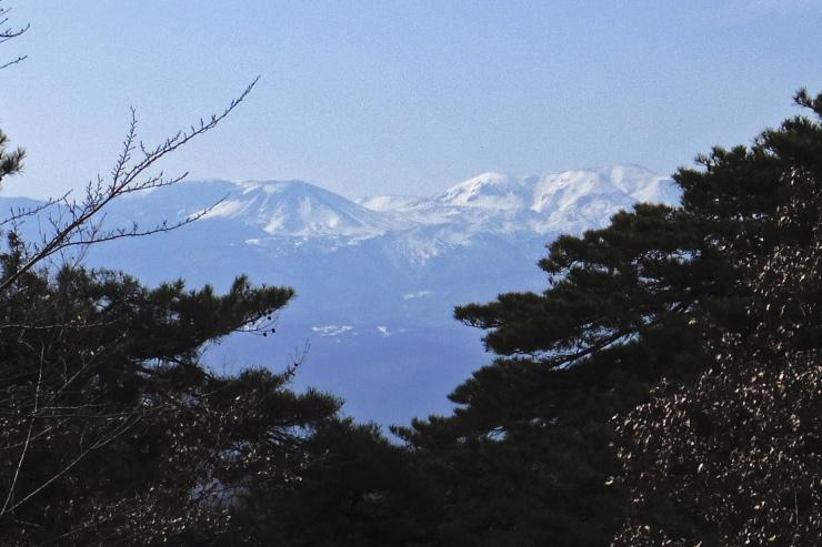 信夫山から。