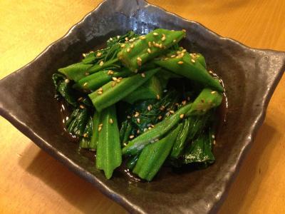 オクラ小松菜