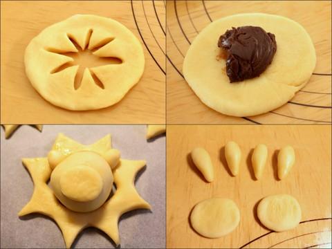 14.09.19ライオンのチョコクリームパン_成形