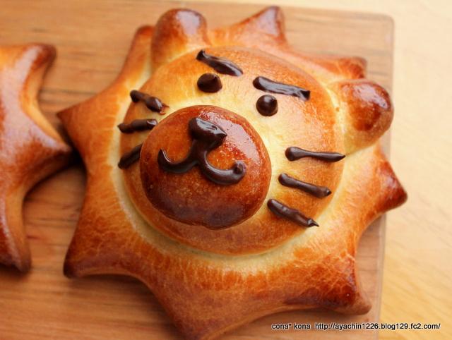 14.09.19ライオンのチョコクリームパン_キリッとライオン