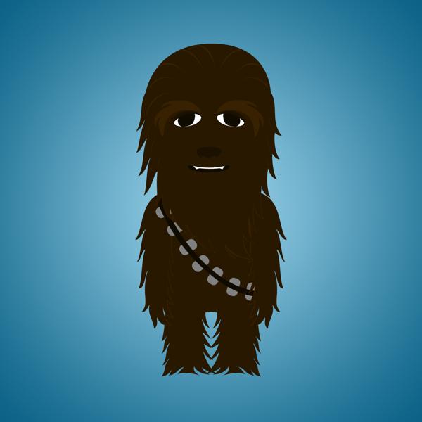 Star-Wars-Characters-by-Déborah-França-Chewbacca