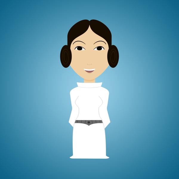 Star-Wars-Characters-by-Déborah-França-Leia