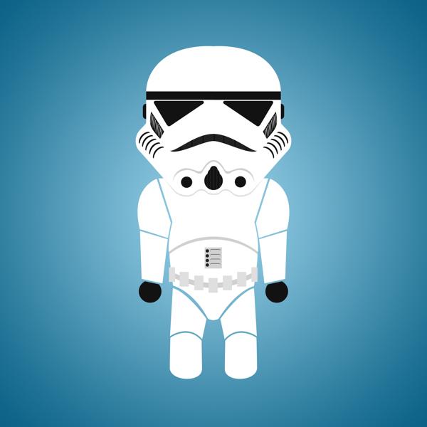 Star-Wars-Characters-by-Déborah-França-Stormtrooper