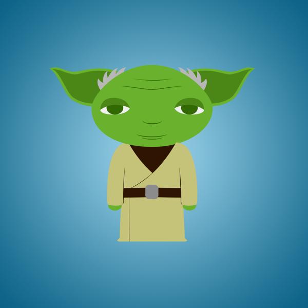 Star-Wars-Characters-by-Déborah-França-Yoda