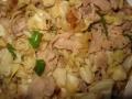 キャベツと豚肉の中華風炒め