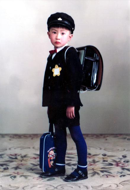小学校入学時の写真