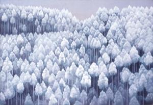 035_川端康成記念会 東山魁夷 北山初雪 紙本彩色