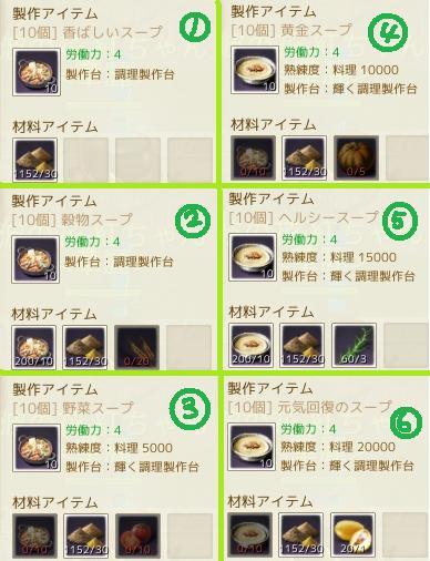 スープMP回復1~6