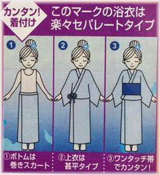 浴衣二部式広告写真