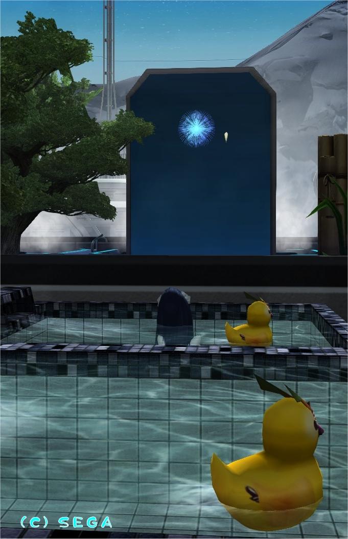 お風呂と花火