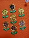 ひまわりの刺繍7個