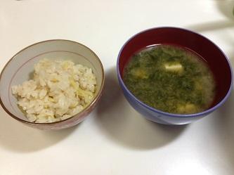 生姜ご飯とお味噌汁