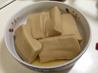 高野豆腐含め煮