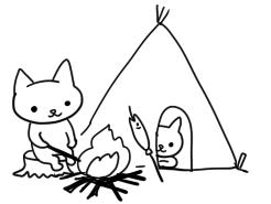 キャンプねこさん