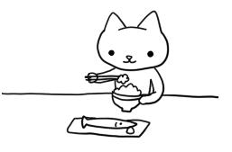 和食ねこさん