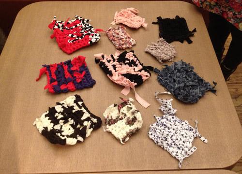 裂き編み写真